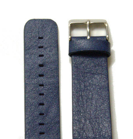 Dark Blue Sport Leather Watch Band