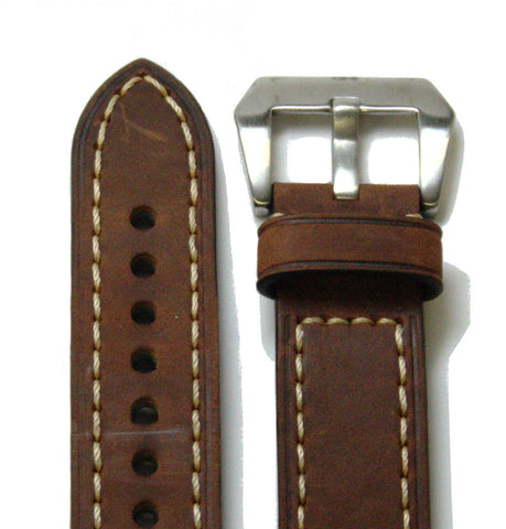 Dark Brown Classic Leather Watch Band