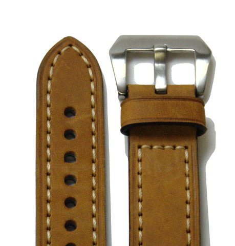 Light Brown Classic Leather Watch Band