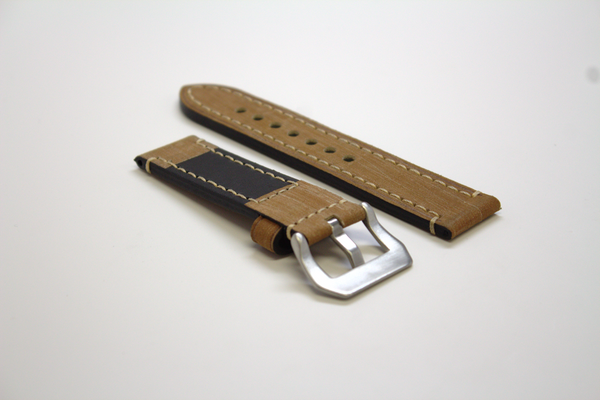 Light Yellow Classic Leather Watch Band