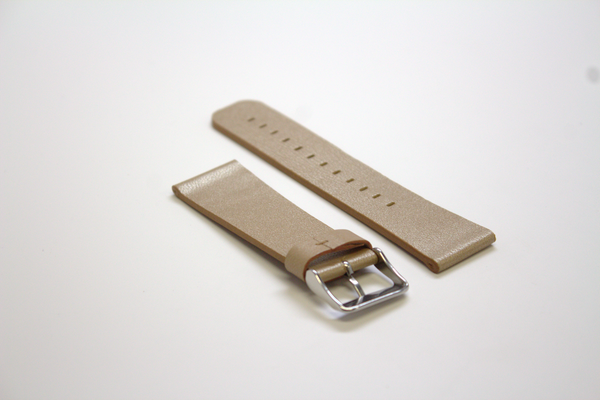 Tan Sport Leather Watch Band