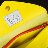 The Ella clutch: Mellow Yellow -