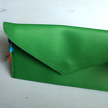 The Ella clutch: Dark Green -
