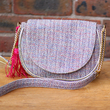 Tweed mini Bedford: Pink & bling