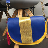 Le Bedford handbag: Blue & Yellow Folly