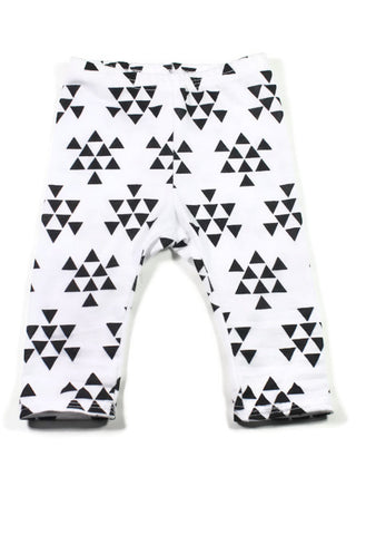 Legging - Green Geo Triangles