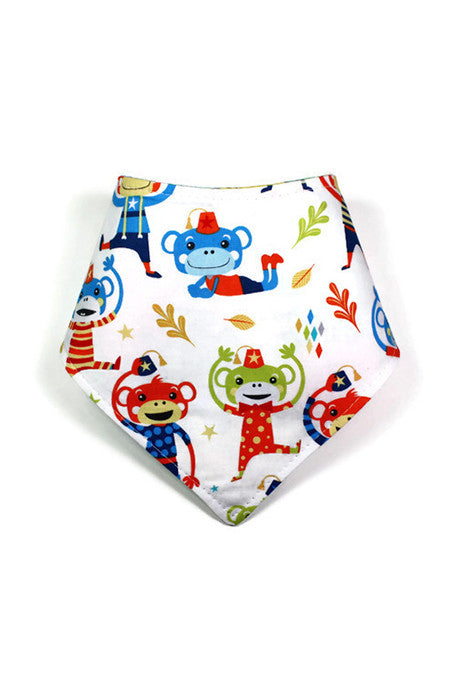 Reversible Bandanna - Monkey in a Fez