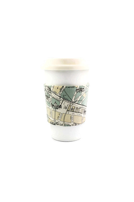 Reversible Coffee Sleeve - Paris Map