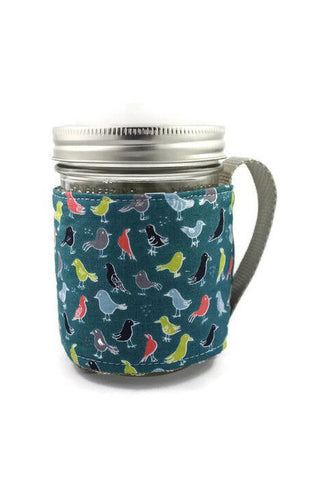 Mason Jar Sleeve - Bird Hang Out