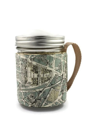Mason Jar Sleeve - Paris Map