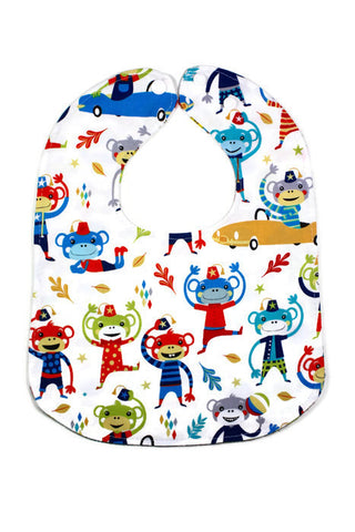 Reversible Bib - Forest Animal, Navy
