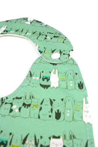Super Bib - Bunnies 'N Kitties, Oh My!