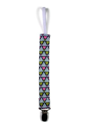 Soother Strap - Abstract Grid