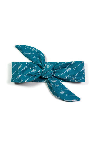 Knotted Headbands - Teal Arrows