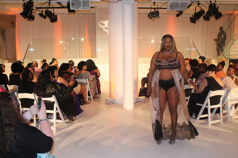 FFFWeek Legend Kim Baker is modeling lingerie by Tia Lyn