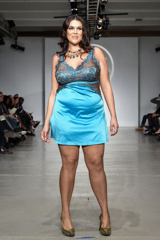 Tia Lyn showcasing her collection at Lingerie Fashion Week