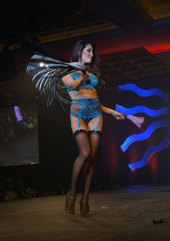 Tia Lyn Lingerie featured on the runway at ILS