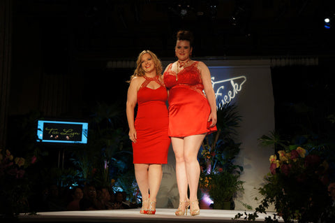 Tia Lyn showcasing her namesake collection on the FFFWeek Catwalk in New York