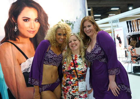 Tia Lyn with Models Wearing Plum Euphoria at Curve Magic Show