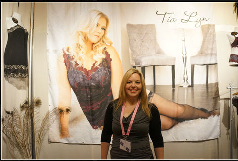 Tia Lyn in her booth at ILS