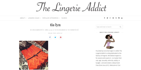 The Lingerie Addict features Tia Lyn