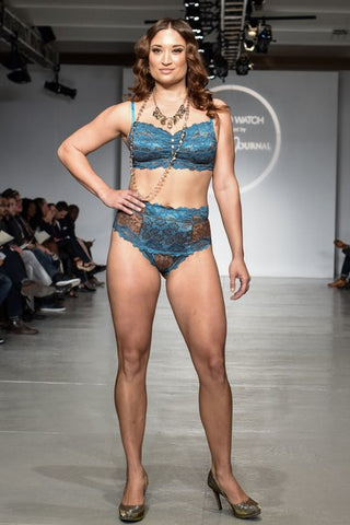 Tia Lyn at Lingerie Fashion Week in New York has Real Women Model on the catwalk