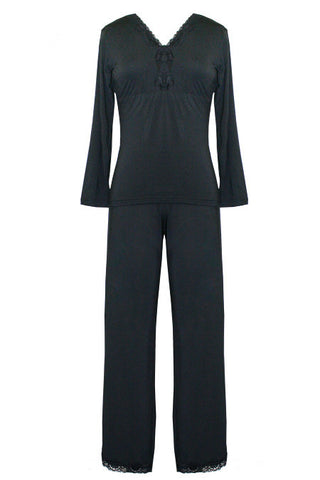 Bliss Pajamas Black - Tia Lyn