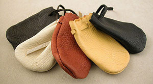 Medium Leather Cornmeal Bags by Max Hand, Oregonian
