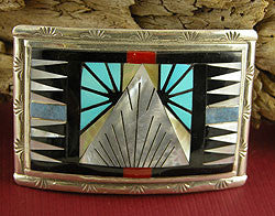 Geometric Splendor Belt Buckle by Sheryl & Strallie Edaakie