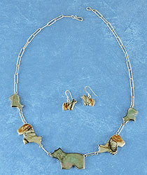 Bear Necklace, Earrings & Ring Set by Sheldon & Nancy Westika