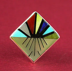 Contemporary Tie Tack by Sheryl & Strallie Edaakie