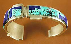 Lapis and Turquoise Cuff by Duran Gasper