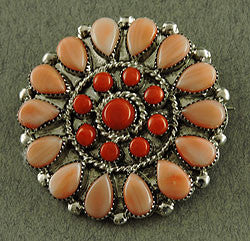 Coral Clusterwork Pin by Filmer Lalio