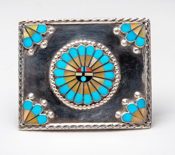 Iconic Sunface Belt Buckle