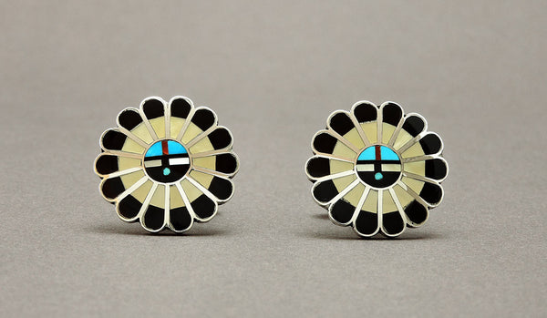 Zuni Sunface Cuff Links