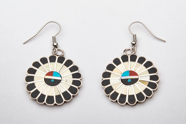 Inlaid Sunface Earrings