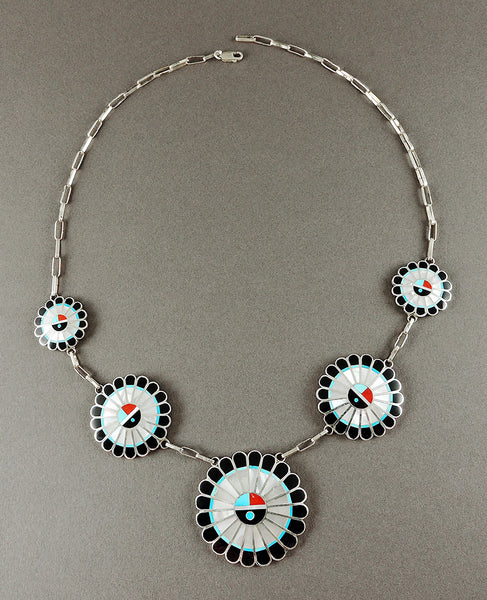 Magnificent Inlaid Sunface Necklace
