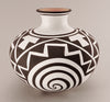 Natural Clay Spiral & Geometric Pottery