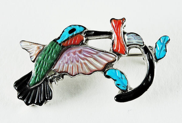 Sipping Nectar Hummingbird Pin\Pendant