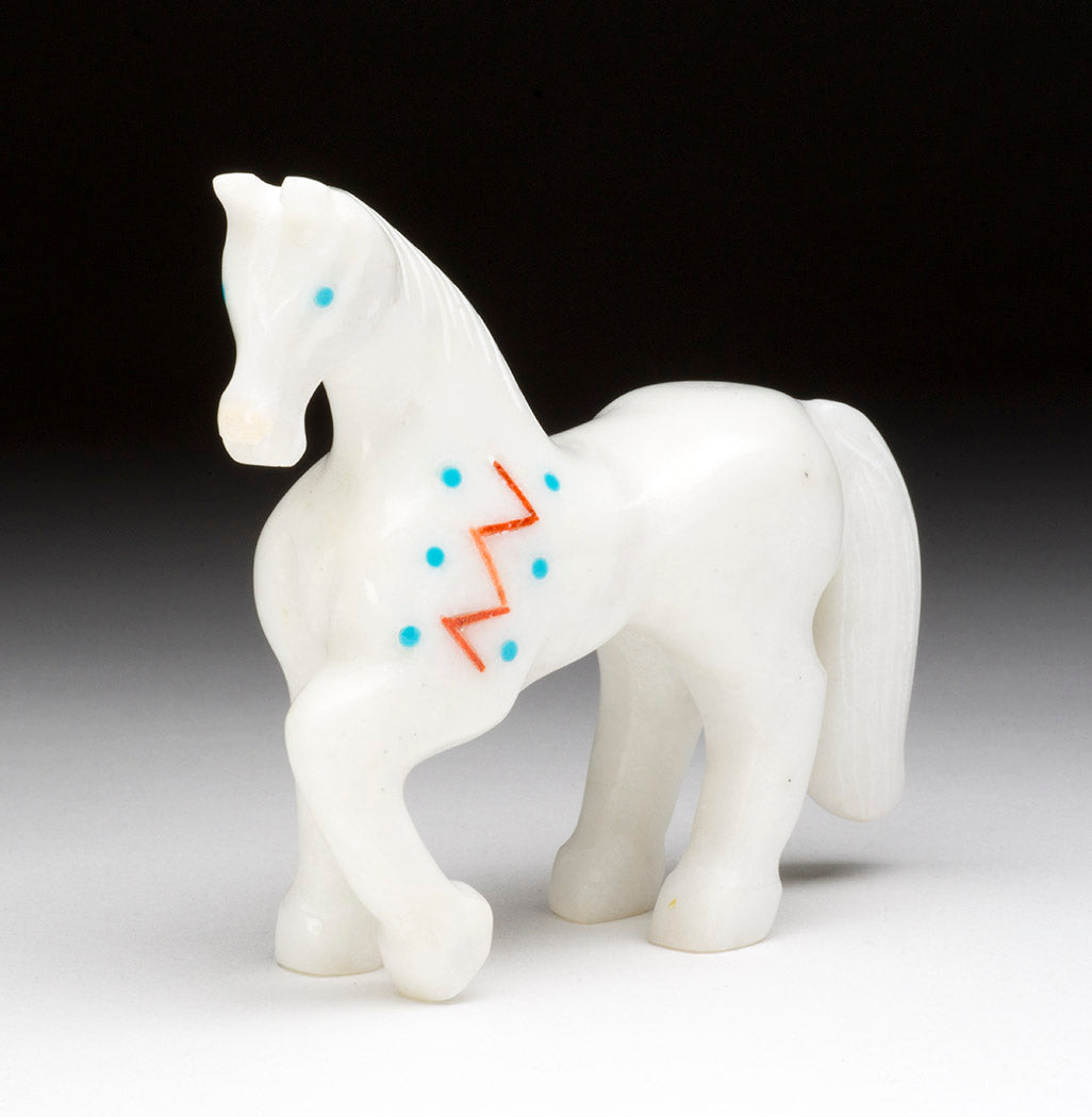 Horse With Colorful Heartline And Zig Zag Paint