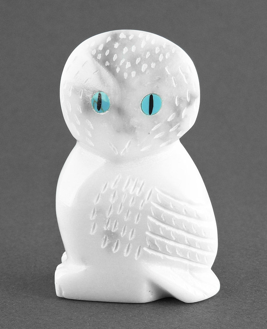 Precious Young Owl Of Marble