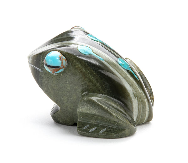 Ricolite Frog With Turquoise Tadpoles