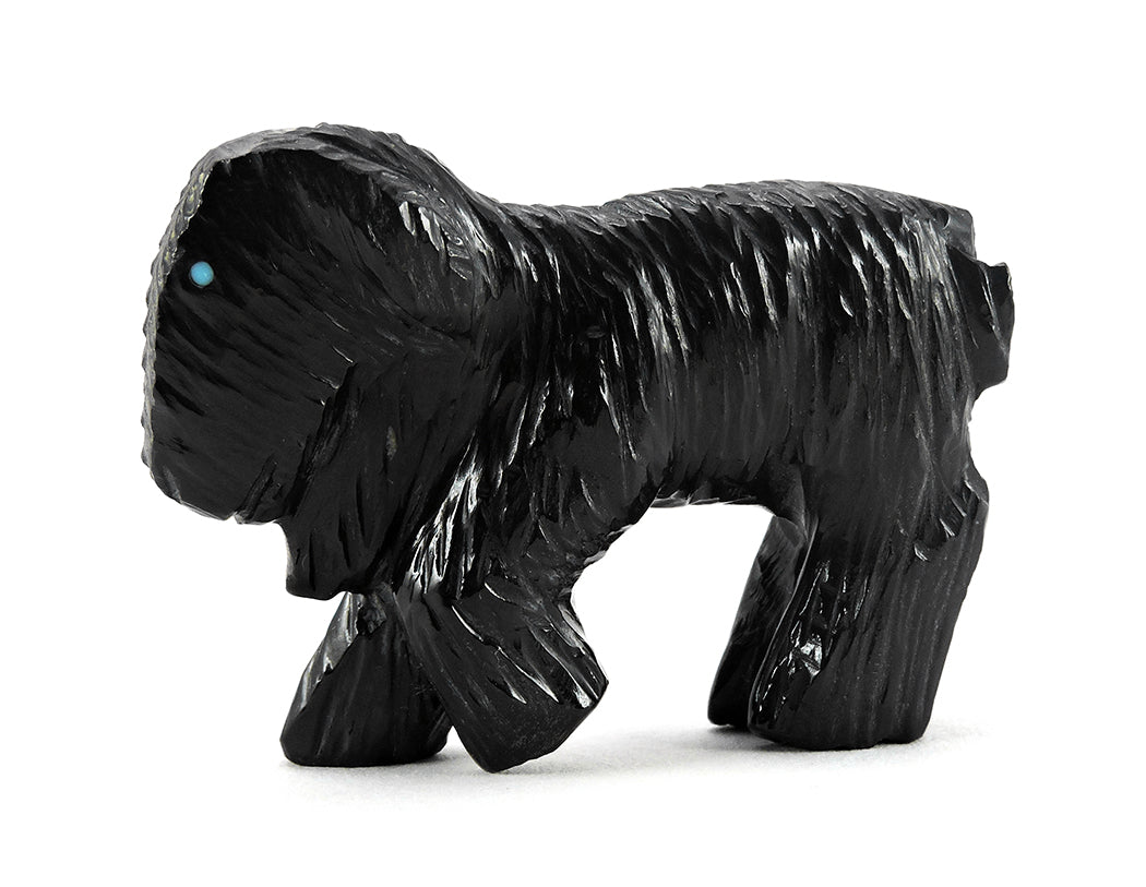 A Black Marble Goat