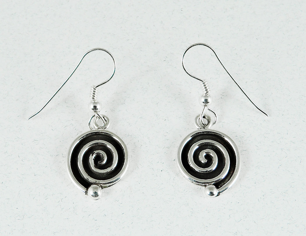 Journey Of Life Dangle Earrings Of Sterling Silver