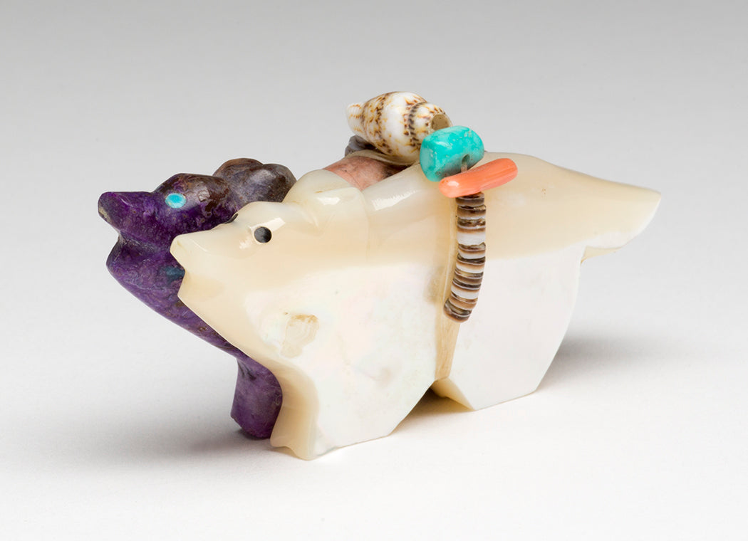 Sugilite & Mother-Of-Pearl Canines