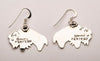 Sterling Silver Wooly Bison Earrings