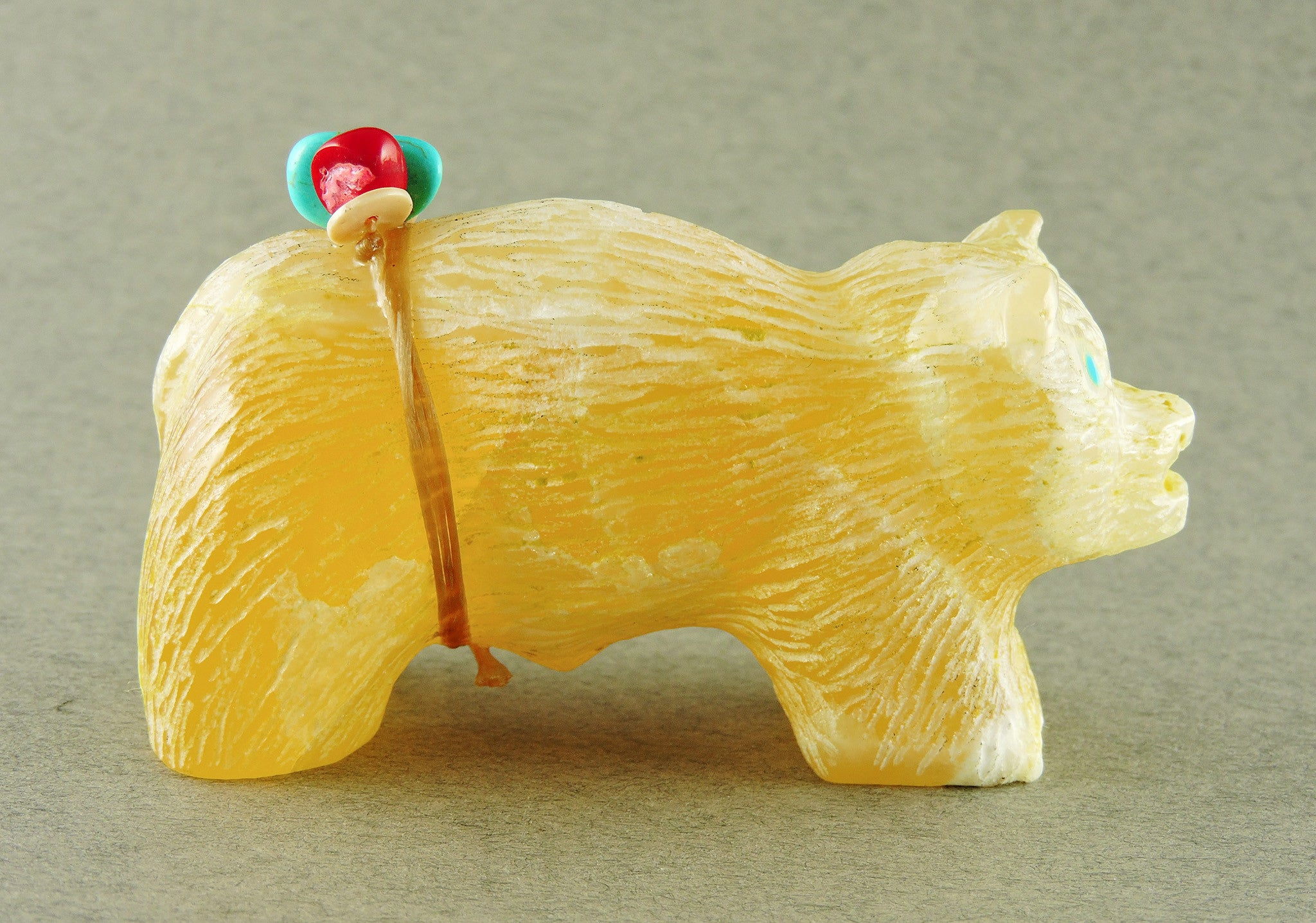 Yellow Calcite Bear