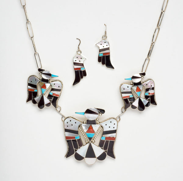 Fabled Phoenix Necklace & Earrings Set