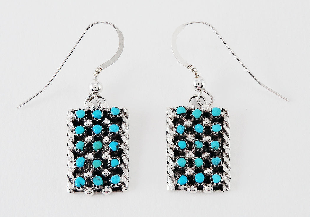 Contemporary Yet Traditional Petit Point Earrings