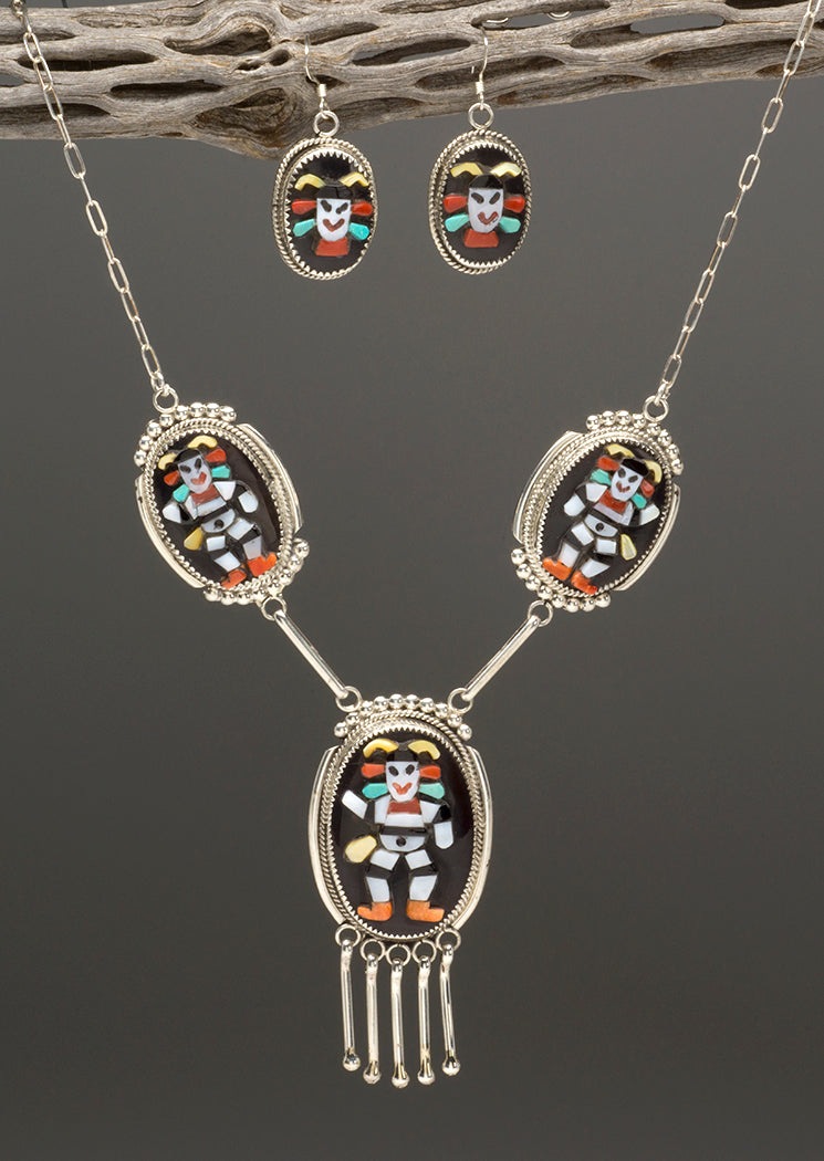 Koshare Necklace & Earrings Set